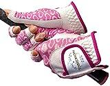 R&A公認 ゴルフ用グローブ 両手用 ネイル&全天候型ストレッチグローブ TBGV-L-DS ホワイトピンク Mサイズ (18-19cm)
