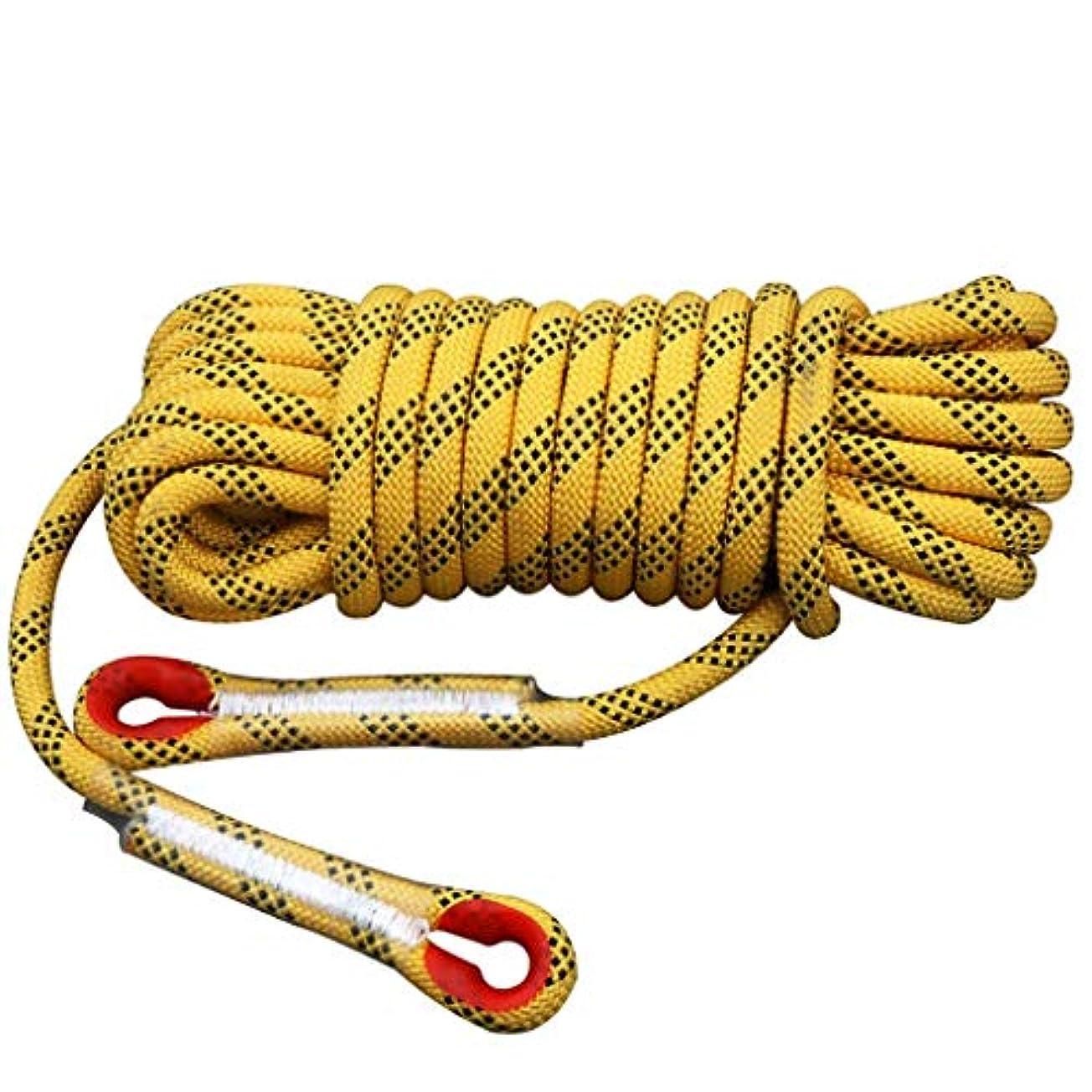 逮捕びっくりした批判的ロープ屋外クライミングロープ、14/12 mm安全ロープクライミングロープロープクライミングロープナイロンロープ脱出装置、30メートル/ 20メートル/ 15メートル/ 10メートル(サイズ:12ミリメートル - 30メートル)