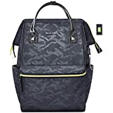 KROSER Laptop Backpack 15.6 Inch Stylish College Backpack Water Repellent Computer Laptop Bag Casual Daypack with USB Port for Travel/Business/School-Camouflage Grey
