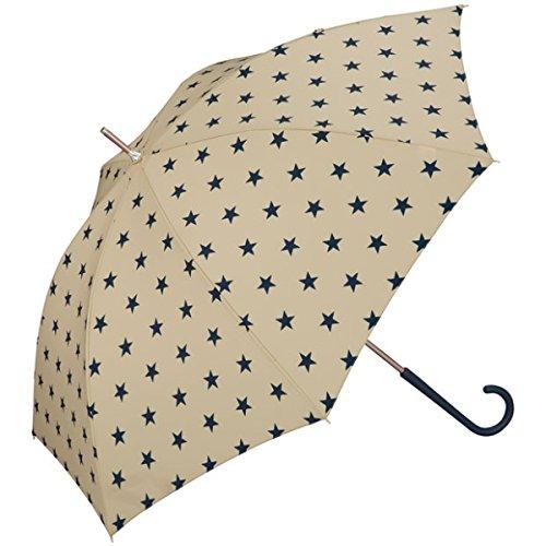 w.p.c(WPC) 【長傘】【軽くて丈夫で持ちやすい】ベーシックスター (雨傘/レディース)【ベージュ/58】