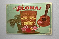 ブリキ看板 Tin Sign Adventurer Hawaii Aloha