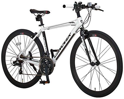 CANOVER(カノーバー) クロスバイク 700C シマノ21段変速 CAC-028(KRNOS) アルミフレーム フロントLEDライト付 ホワイト
