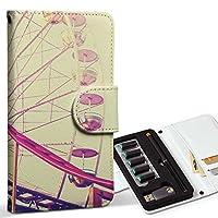 スマコレ ploom TECH プルームテック 専用 レザーケース 手帳型 タバコ ケース カバー 合皮 ケース カバー 収納 プルームケース デザイン 革 観覧車 ビンテージ 写真 011306