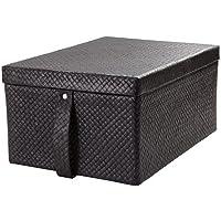 IKEA(イケア) BLADIS 27x35x18 cm 80219354 ふた付きボックス、ブラック