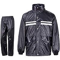 BYWSD Raincoat Rain Pants Ride Row Rainstorm Rainproof Suit, Split Adult Men and Women Raincoat (Color : Black, Size : XXXXL)