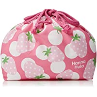 ハンナフラ(Hanna Hula) キッズ ランチ巾着 いちご ランチシリーズ 日本製 子供用かわいいお弁当グッズ
