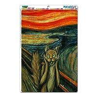 グラフィックスと詳細ムンクの叫びEdvard Munch–Cat Painting mag-neato 's ( TM )ノベルティギフトロッカー冷蔵庫ビニールパズルマグネットセット