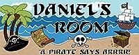 Mona Melisa Designs Customized Pirate Daniel Name Sign Decorative Wall Sticker [並行輸入品]