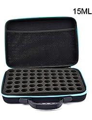 Pursue アロマ オイル ケース エッセンシャルオイル収納ボックス 精油収納ケース 大容量 携帯便利 60本用