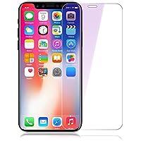 iPhone X ガラスフィルム iphone X フィルム 0.15mm 超薄 全面保護 9H硬度 ブルーライトカット 強化ガラスフィルム 防指紋 耐衝撃 (iphone x 0.15mm)