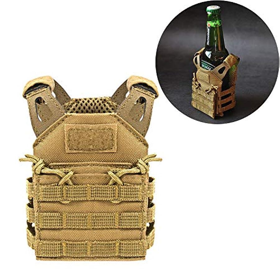 エンゲージメントボーカル回想SINAIRSOFT タクティカルビールベスト Koozie JPC ミニMolleベスト 飲料クーラーホルダー 12オンスまたは16オンス缶またはボトルに調節可能