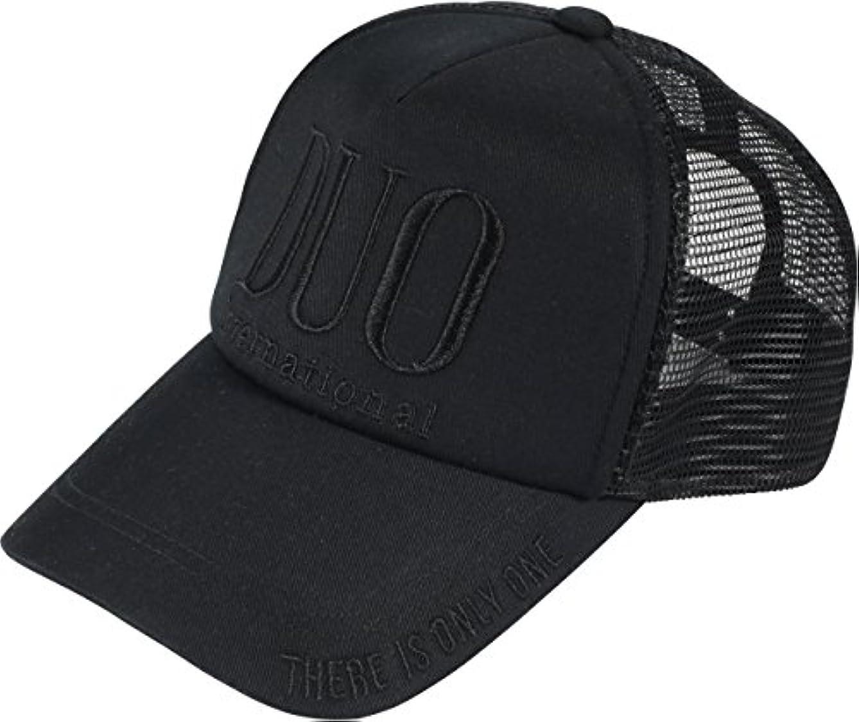 の前で誰でも観光に行くDUO(デュオ) 帽子 DUO刺繍ロゴメッシュキャップ ブラック