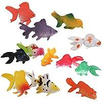 【ノーブランド品】人気動物 フィギュ 金魚セット モデルセットアニマル プラスチック おもちゃ モデル 12個セット