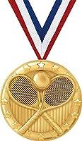 テニスメダル – 2インチゴールドテニスチームメダル賞プライム。