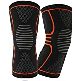 Knee Brace Knee Support, Compression Knee Sleeve (Pair) for Meniscus Tear, ACL, MCL Running & Arthritis, Best Neoprene Stabilizer Wrap for Crossfit, Squats & Workouts - for Men & Women
