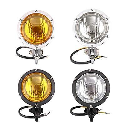 Motorcycle Harley Headlight Head light lights Clear Lens Universal for Most of 12V Motorcycles CB400 Honda