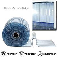 コットンカーテン ストリップカーテン 環境に優しいPVC アンチスクラッチ 防水 透明で耐久性 工場、スーパーマーケット、ショッピングモール、26サイズ (Color : 明確な, Size : 1.5x2.4m)