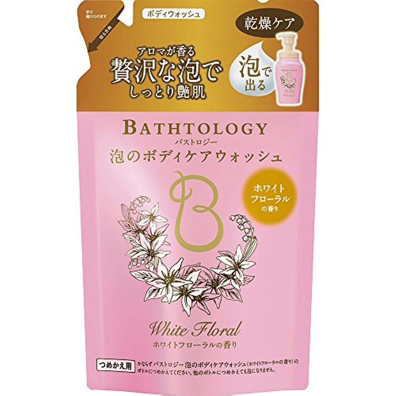 害虫部分的雪BATHTOLOGY 泡のボディケアウォッシュ ホワイトフローラルの香り 詰め替え 350ml