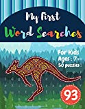 My First Word Searches: 50 Large Print Word Search Puzzles : word search for kids 8 year olds activity workbooks | Ages 7 8 9+ kangaroo design (Vol.93) (Kids word search books)