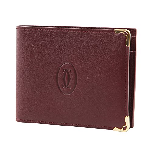 Cartier 【カルティエ】 L3001368 ボルドー 二つ折り財布 (小銭入れ付) MUST