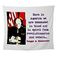 CafePress - Here in America - Dwight Eisenhower - 壁タペストリー