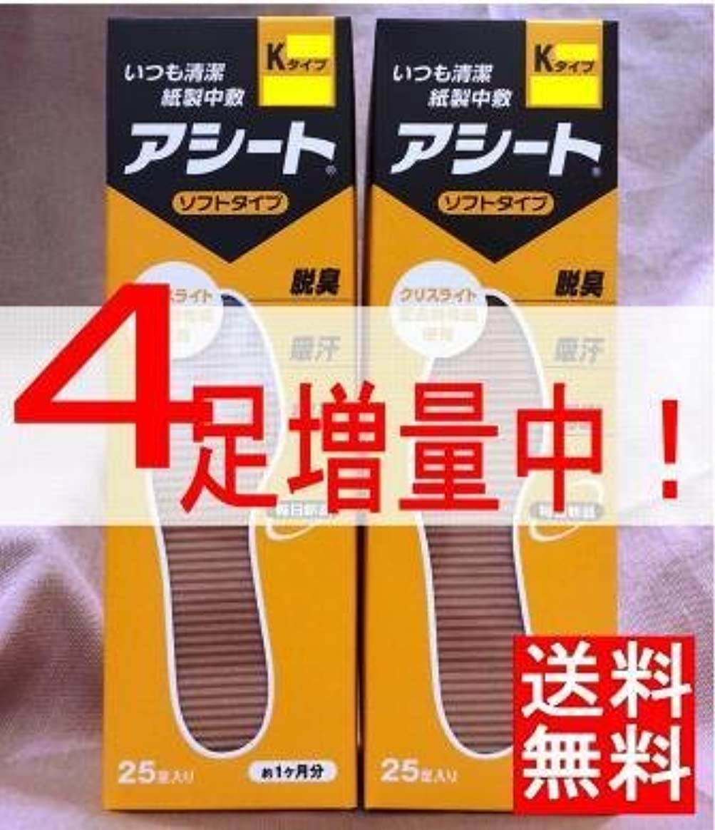 サーフィン微妙大いにアシートK(サイズ24cm)×2箱セット(4足増量中)
