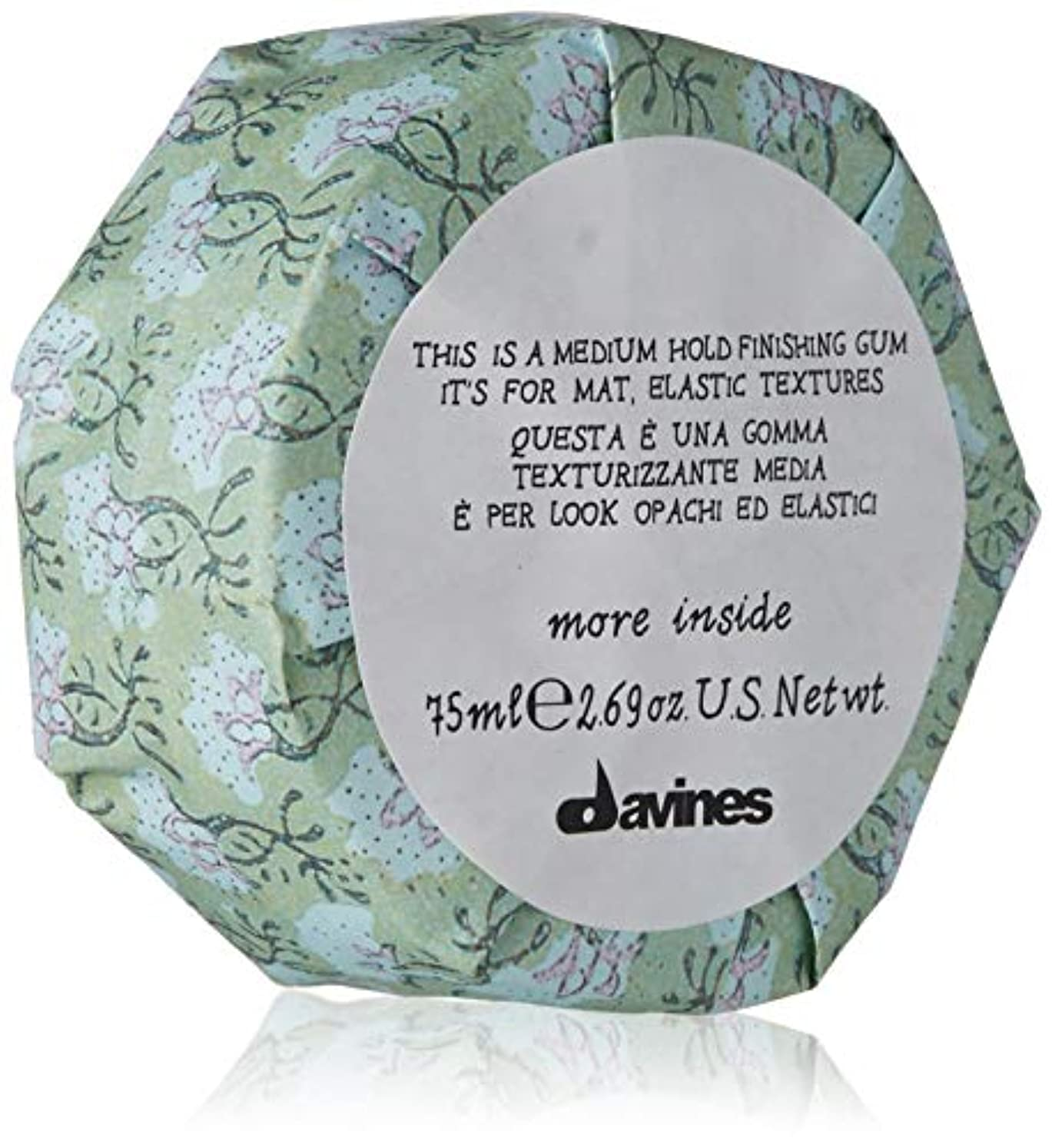 進む合わせて遠洋のダヴィネス More Inside This Is A Medium Hold Finishing Gum (For Mat, Elastic Textures) 75ml/2.69oz並行輸入品