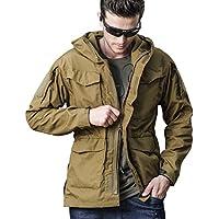 Top greener Mens Jacket Windbreaker Soft Shell Waterproof Lightweight Work WinterHooded Outdoor Coat