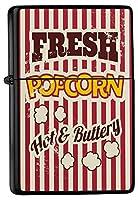 Pocket Windproof lighter ライター Brushed Oil Refillable Popcorn cinema