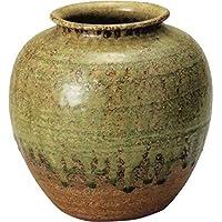 信楽焼 ビードロ 丸 花瓶 8号  6045-08