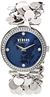 Versus by Versace Women 's ' Paris Lights ' QuartzステンレススチールCasual Watch, Color : silver-toned (モデル: sgw130016)