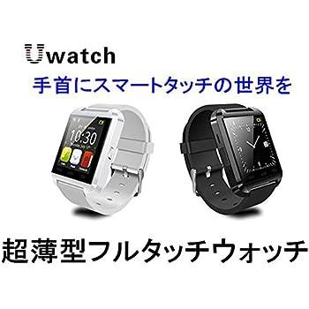 Bluetooth スマート ウォッチ 1.46インチ 超薄型フルタッチ ウォッチ 多機能 時計 健康 ◇U-WATCH ホワイト 並行輸入品