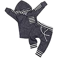 Mailza Babys 1st Birthday Outfits Newborn Girl Boy Long Sleeve T-Shirt Red Plaid Pant Hat Wild One Clothes Set