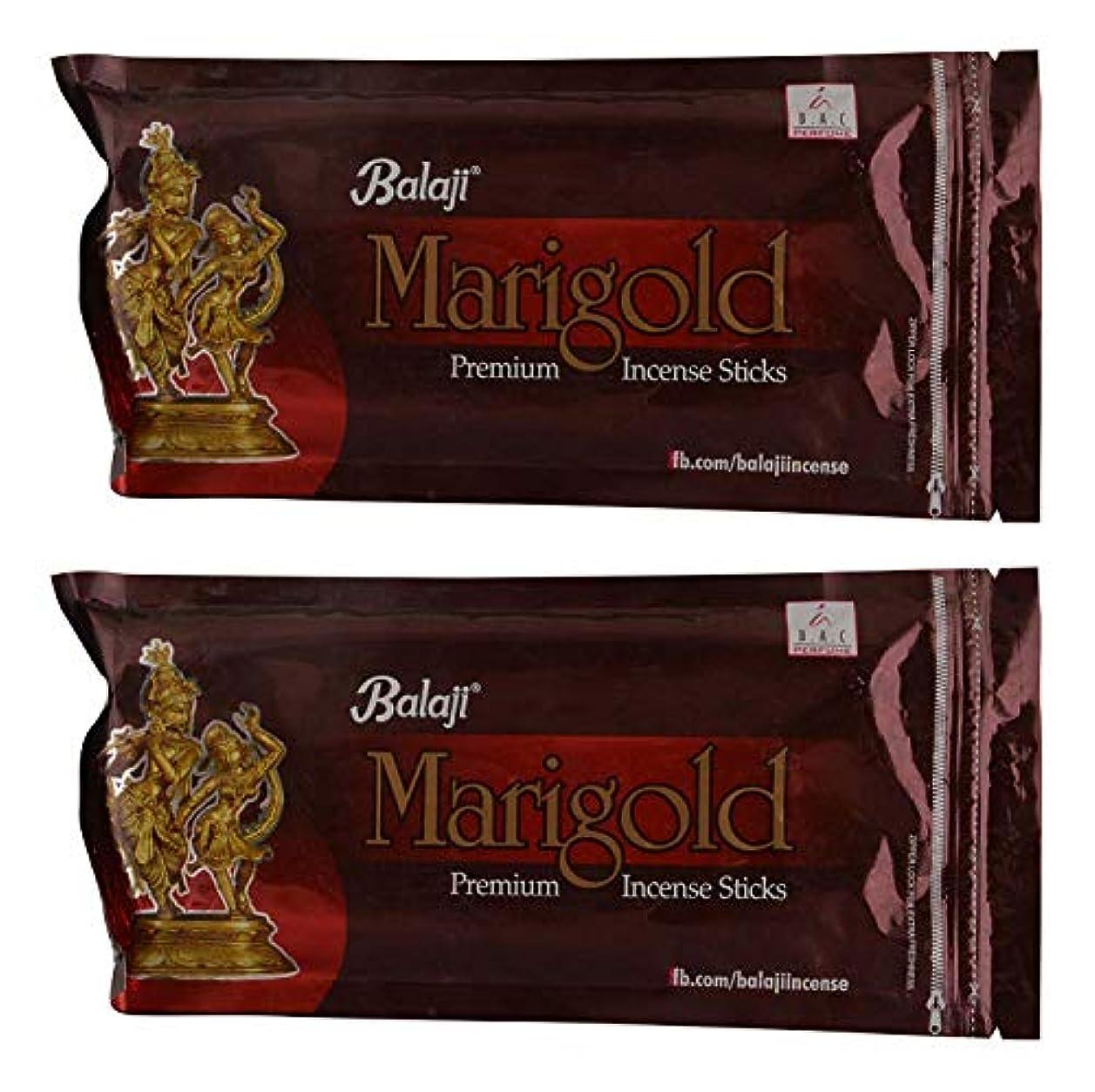 施設そよ風忌避剤Balaji Marigold Bamboo Incense Sticks (8 cm, 150 g, Black, Pack of 2)