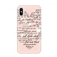 ピンクホワイトハート型のバレンタイン アップルiphoneのx電話ケースフレキシブル透明ボーダーカバーソフトスリム