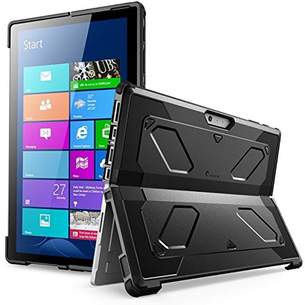 松の木専門用語老朽化したThe新しいサーフェスPro 2017ケース[ヘビーデューティ] I - Blason ArmorBoxデュアル層ハイブリッド全面保護スタンド機能ケースMicrosoft Surface Pro 4と互換性2016 [ no Built Inスクリーンプロテクター] ブラック MS-SP4-ARMOR-BK