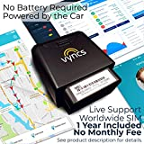 GPS Tracker Vyncs No Monthly Fee OBD, Real Time 3G Car GPS Tracking Trips Free 1 Year Data Plan Teen Unsafe Driving Alert Engine Data Fleet Monitoring Fuel Report Optional Roadside (Black, 2.56)