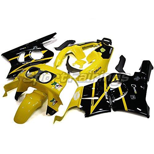 Sportfairings フェアリング 外装パーツセット 適応モデル ホンダ 本田 CBR400-RR NC22 19901991 1992 1993 1994 1995 1996 1997 1998 1999 年 黄色と黒 カウル