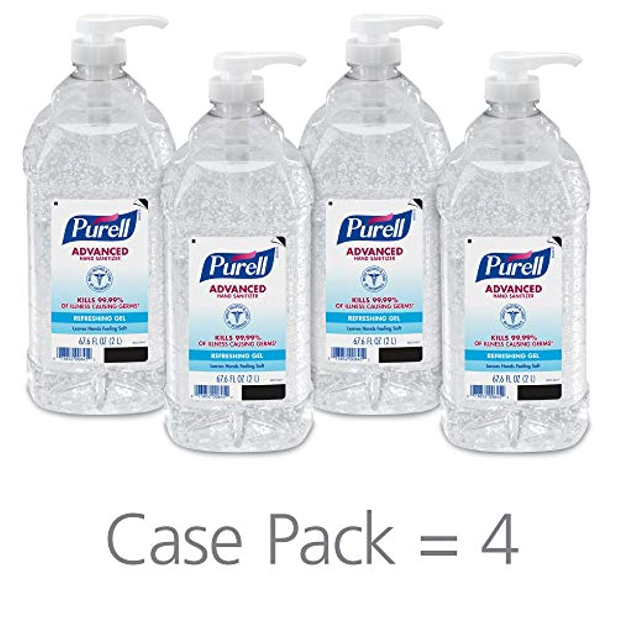 忌み嫌うソブリケット絶え間ないPURELL 962504CT Advanced Instant Hand Sanitizer, 2-liter Bottle, 4 per Carton by Purell