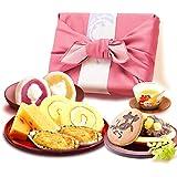 誕生日プレゼント おいもやどら焼き ギフトセット お祝い お菓子 の プレゼント 内祝い (ピンク色風呂敷)
