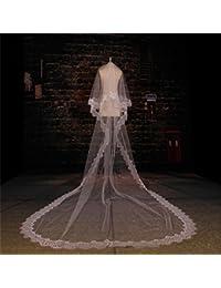 シュウクラブ- 美しいまつげレースレース大きなスキム糸ロングブライド結婚式のベール