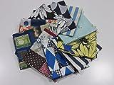 小関鈴子 カットクロス10枚セット F    |生地|布地|パッチワーク|巾着|ハギレ|はぎれ|小物つくり|素敵|有輪|YUWA|YUWA|しなやか|ナチュラル|やわらかい|上質|ソーイング|手芸|手作り|通販|安い|福袋|お楽しみ袋|