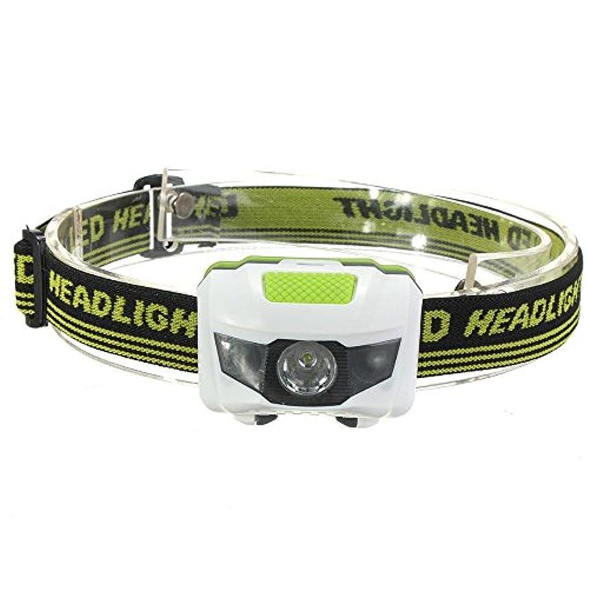 タヒチ十二サンダース超高輝度LEDヘッドライト スポットライト R3 2LED ミニヘッドランプ アウトドア用懐中電灯  4 モードあり 超高輝度懐中電灯