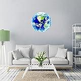 Yanqiao ウォールステッカー 夜光 地球 星球 便器 スイッチ ステッカー 壁紙 かわいい オシャレ