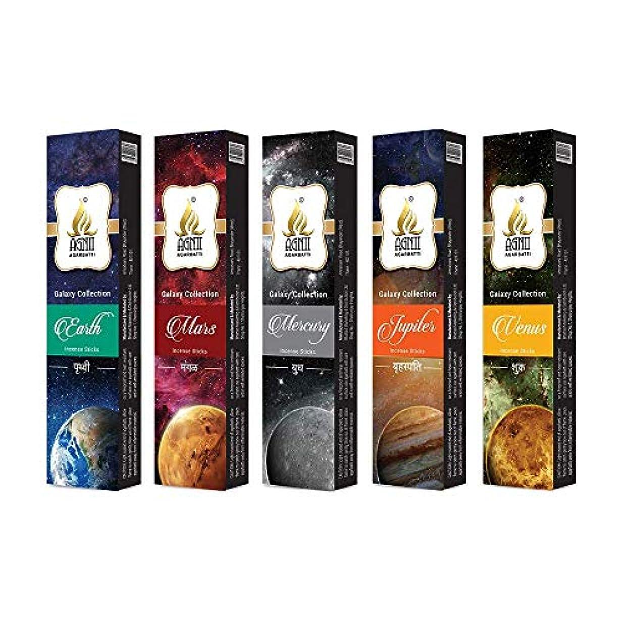 自発楽しませる火山のAGNII AGARBATTI Galaxy Collection Incense Sticks (100 GRM_Brown) Pack of 9