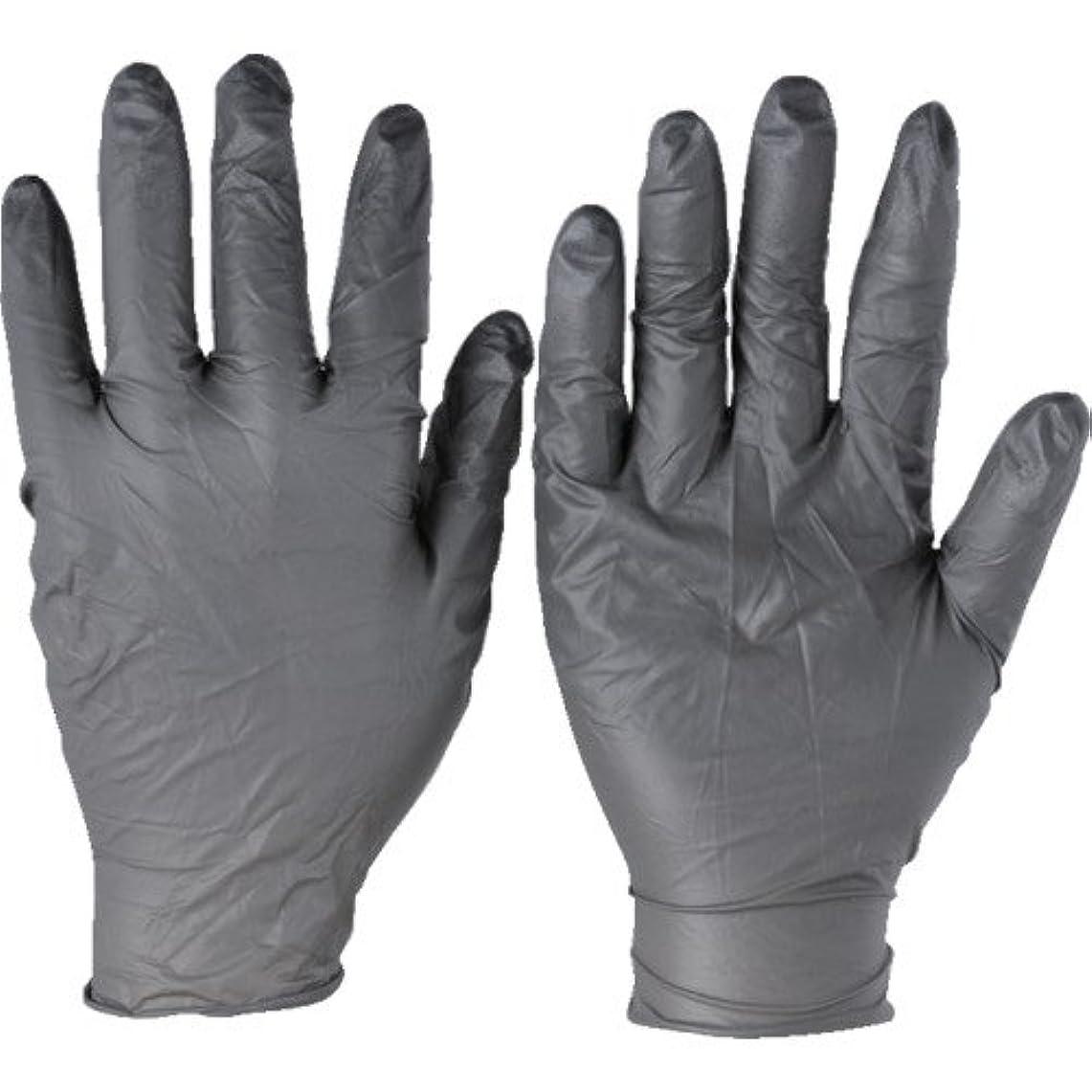 構成物質巨人トラスコ中山 アンセル ニトリルゴム使い捨て手袋 タッチエヌタフ 粉無 Lサイズ 100枚入 932509