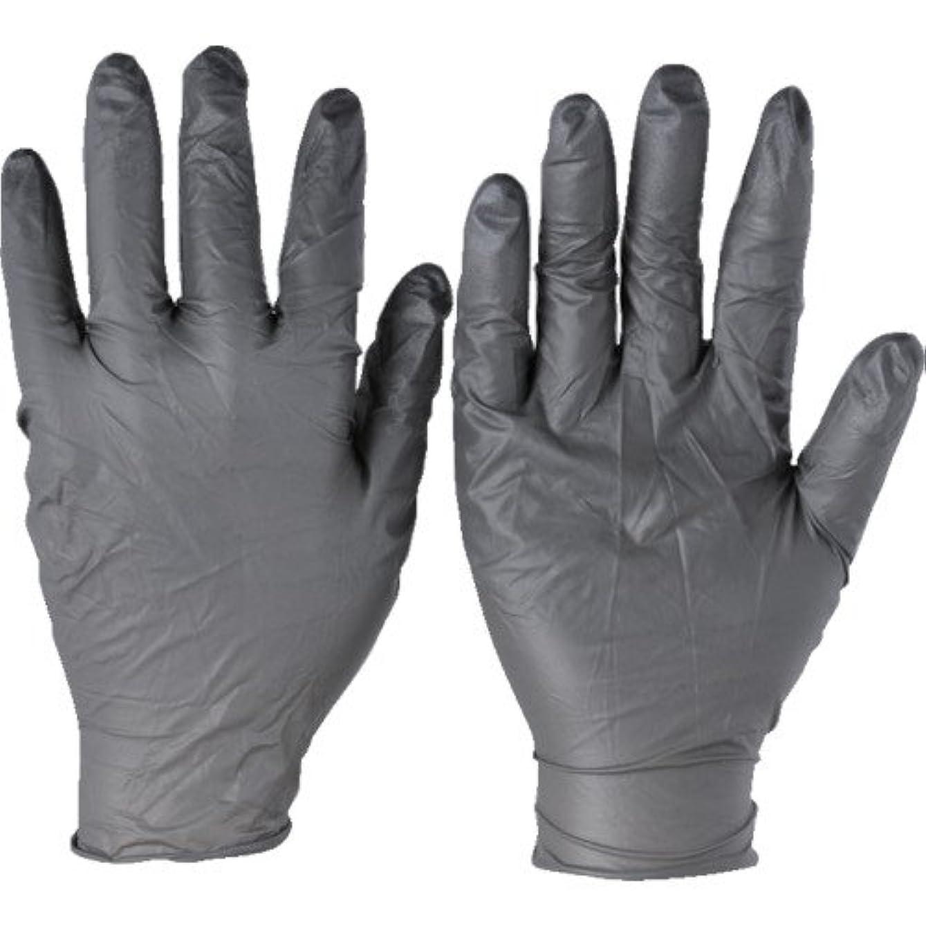 アコー過敏な普遍的なトラスコ中山 アンセル ニトリルゴム使い捨て手袋 タッチエヌタフ 粉無 Lサイズ 100枚入 932509