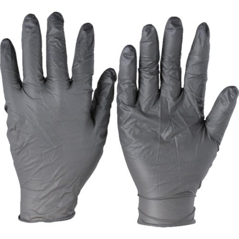ビルマ定規逆トラスコ中山 アンセル ニトリルゴム使い捨て手袋 タッチエヌタフ 粉無 Lサイズ 100枚入 932509