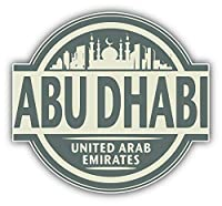 KW ビニール製 Abu Dhabi City United Arab Emirates ラベル 旅行 トラック 車 窓 バンパーステッカー デカール 5インチ
