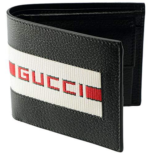 7b19aa8d1405 GUCCI(グッチ) 財布 メンズ 二つ折り 小銭入れ付き ストライプ レザーウォレット メンズ 二
